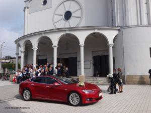 Tesla wynajem do ślubu Łaziska.