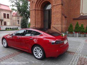 Tesla Łódź wynajem do ślubu i na wesele