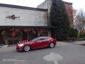 Tesla Model S wynajem na wesele Sosnowiec (restauracja Moja Pasja)