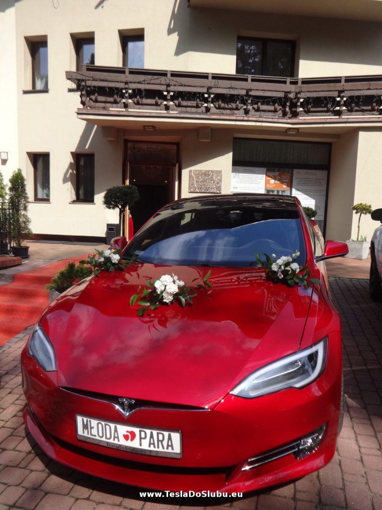 Tesla Model S na wesele Bielsko-Biała (wesele w Hotelu Na Boniach w Bielsku)