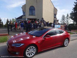 Tesla Tarnobrzeg Zakrzow wynajem do śłubu i na wesele