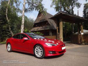 Tesla wynajem na wesele Chorzów Restauracja Łania
