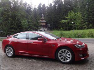 Tesla Model S w Zakopanem - Wynajem na wesele i ślub
