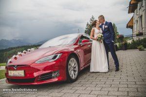 Wynajem Tesla do ślubu